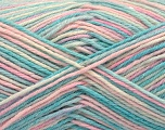 Fiber Content 60% Acrylic, 5% Paillette, 5% Polyamide, 20% Wool, 10% Angora, White, Turquoise, Pink, Lilac, Brand ICE, fnt2-57370