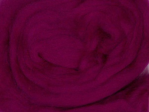 50gr-1.8m (1.76oz-1.97yards) 100% Wool felt Fiber Content 100% Wool, Yarn Thickness Other, Brand ICE, Fuchsia, acs-970