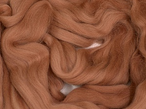 50gr-1.8m (1.76oz-1.97yards) 100% Wool felt Fiber Content 100% Wool, Rose Brown, Brand Ice Yarns, acs-1105