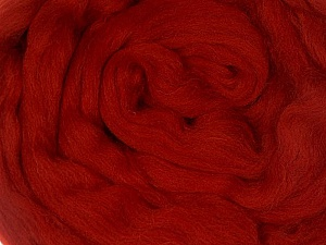 50gr-1.8m (1.76oz-1.97yards) 100% Wool felt Fiber Content 100% Wool, Brand Ice Yarns, Dark Red, acs-1107