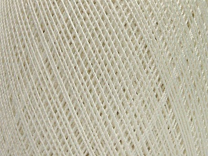 Ne: 10/3 Nm: 17/3 Fiber Content 100% Mercerised Cotton, White, Brand ICE, Yarn Thickness 1 SuperFine  Sock, Fingering, Baby, fnt2-49527