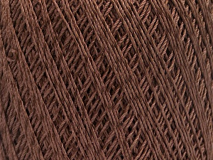 Ne: 10/3 +600d. Viscose. Nm: 17/3 Fiber Content 72% Mercerised Cotton, 28% Viscose, Brand ICE, Brown, Yarn Thickness 1 SuperFine  Sock, Fingering, Baby, fnt2-49860