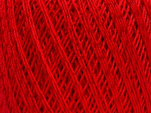Ne: 10/3 +600d. Viscose. Nm: 17/3 Fiber Content 72% Mercerised Cotton, 28% Viscose, Red, Brand ICE, Yarn Thickness 1 SuperFine  Sock, Fingering, Baby, fnt2-49868