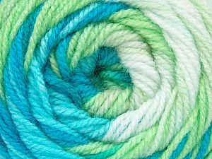 . Fiber Content 100% Baby Acrylic, White, Brand Ice Yarns, Green, Blue Shades, Yarn Thickness 2 Fine  Sport, Baby, fnt2-50005