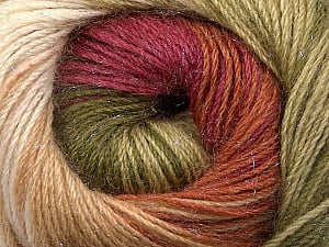 Fiber Content 57% Premium Acrylic, 3% Metallic Lurex, 20% Mohair, 20% Wool, Brand ICE, Green Shades, Burgundy, Brown, Yarn Thickness 2 Fine  Sport, Baby, fnt2-50321