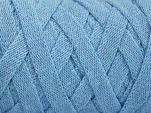 Fiber Content 70% Recycled Cotton, 30% Metallic Lurex, Light Blue, Brand Ice Yarns, Yarn Thickness 6 SuperBulky  Bulky, Roving, fnt2-50527
