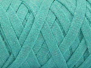 Fiber Content 70% Recycled Cotton, 30% Metallic Lurex, Mint Green, Brand Ice Yarns, Yarn Thickness 6 SuperBulky  Bulky, Roving, fnt2-50528