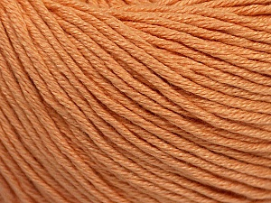 Fiber Content 60% Bamboo, 40% Cotton, Light Salmon, Brand ICE, Yarn Thickness 3 Light  DK, Light, Worsted, fnt2-50538