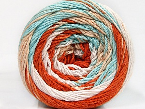 Fiber Content 100% Cotton, White, Mint Green, Brand ICE, Copper, Cafe Latte, Yarn Thickness 3 Light  DK, Light, Worsted, fnt2-50563