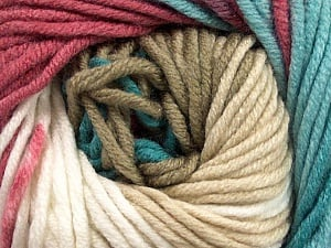 Fiber Content 100% Acrylic, White, Turquoise, Orchid, Brand ICE, Cream, Beige, Yarn Thickness 5 Bulky  Chunky, Craft, Rug, fnt2-50846