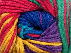 Fiber Content 100% Acrylic, Yellow, Turquoise, Pink, Navy, Lavender, Brand ICE, Green, Yarn Thickness 5 Bulky  Chunky, Craft, Rug, fnt2-50848