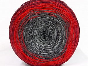 Fiber Content 50% Cotton, 50% Acrylic, Red, Maroon, Brand ICE, Grey Shades, Yarn Thickness 2 Fine  Sport, Baby, fnt2-51173