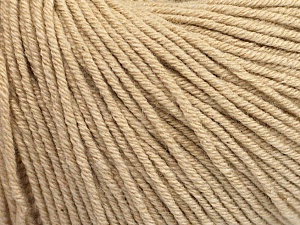 Fiber Content 60% Cotton, 40% Acrylic, Brand ICE, Beige, Yarn Thickness 2 Fine  Sport, Baby, fnt2-51206