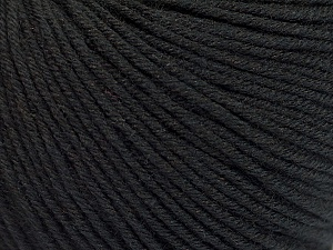Fiber Content 60% Cotton, 40% Acrylic, Brand ICE, Black, Yarn Thickness 2 Fine  Sport, Baby, fnt2-51214