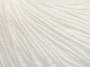 Fiber Content 60% Cotton, 40% Acrylic, White, Brand ICE, Yarn Thickness 2 Fine  Sport, Baby, fnt2-51216
