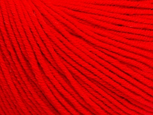 Fiber Content 60% Cotton, 40% Acrylic, Red, Brand ICE, Yarn Thickness 2 Fine  Sport, Baby, fnt2-51229