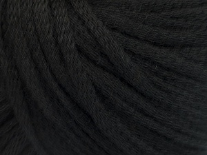 Fiber Content 50% Acrylic, 50% Wool, Brand ICE, Black, Yarn Thickness 4 Medium  Worsted, Afghan, Aran, fnt2-51389