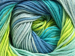 Fiber Content 100% Cotton, Brand Ice Yarns, Green Shades, Blue Shades, Yarn Thickness 2 Fine  Sport, Baby, fnt2-51442