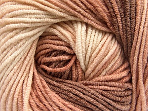 Fiber Content 55% Cotton, 45% Acrylic, Rose Brown, Light Pink, Brand ICE, Brown, Yarn Thickness 3 Light  DK, Light, Worsted, fnt2-51448