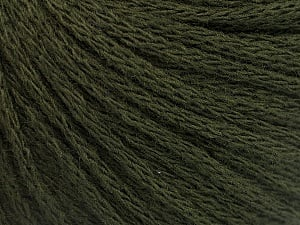 Fiber Content 50% Wool, 50% Acrylic, Brand ICE, Dark Green, Yarn Thickness 4 Medium  Worsted, Afghan, Aran, fnt2-51476