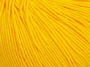 Fiber Content 60% Cotton, 40% Acrylic, Yellow, Brand ICE, Yarn Thickness 2 Fine  Sport, Baby, fnt2-51514