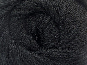 Fiber Content 45% Alpaca, 30% Polyamide, 25% Wool, Brand ICE, Black, Yarn Thickness 3 Light  DK, Light, Worsted, fnt2-51520