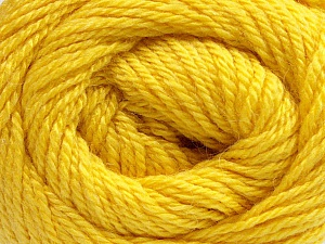 Fiber Content 45% Alpaca, 30% Polyamide, 25% Wool, Yellow, Brand ICE, Yarn Thickness 3 Light  DK, Light, Worsted, fnt2-51528