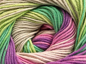 Fiber Content 100% Cotton, Pink, Lilac, Brand Ice Yarns, Green Shades, Beige, Yarn Thickness 2 Fine  Sport, Baby, fnt2-51540
