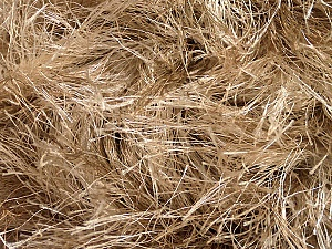 Fiber Content 100% Polyester, Brand Ice Yarns, Camel, Beige, Yarn Thickness 6 SuperBulky  Bulky, Roving, fnt2-51605