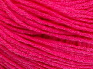 Fiber Content 50% Cotton, 50% Acrylic, Neon Pink, Brand ICE, Yarn Thickness 3 Light  DK, Light, Worsted, fnt2-51723