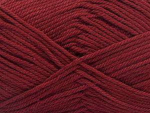 Baby cotton is a 100% premium giza cotton yarn exclusively made as a baby yarn. It is anti-bacterial and machine washable! Fiber Content 100% Giza Cotton, Brand ICE, Burgundy, Yarn Thickness 3 Light  DK, Light, Worsted, fnt2-51953