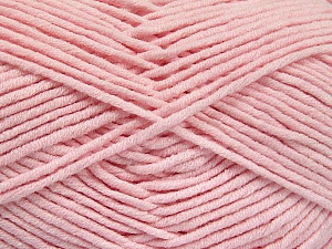 Fiber Content 55% Cotton, 45% Acrylic, Brand ICE, Baby Pink, Yarn Thickness 4 Medium  Worsted, Afghan, Aran, fnt2-52027