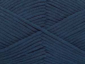 This is a tube-like yarn with soft fleece inside. Fiber Content 73% Viscose, 27% Polyester, Navy, Brand Ice Yarns, Yarn Thickness 5 Bulky  Chunky, Craft, Rug, fnt2-52045