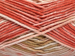 Fiber Content 100% Antipilling Acrylic, White, Salmon, Pink, Brand ICE, Camel, Yarn Thickness 4 Medium  Worsted, Afghan, Aran, fnt2-52063