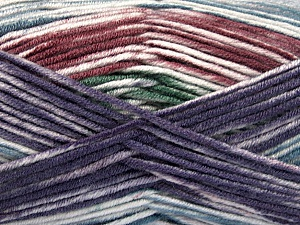 Fiber Content 100% Antipilling Acrylic, White, Purple, Maroon, Brand ICE, Green, Blue, Yarn Thickness 4 Medium  Worsted, Afghan, Aran, fnt2-52068