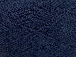 Fiber Content 100% Acrylic, Navy, Brand ICE, Yarn Thickness 2 Fine  Sport, Baby, fnt2-52121