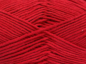 Fiber Content 55% Cotton, 45% Acrylic, Red, Brand ICE, Yarn Thickness 4 Medium  Worsted, Afghan, Aran, fnt2-52133