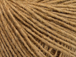 Fiber Content 50% Wool, 50% Acrylic, Light Brown, Brand ICE, Yarn Thickness 3 Light  DK, Light, Worsted, fnt2-52177