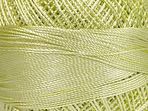 Fiber Content 100% Micro Fiber, Brand YarnArt, Light Green, Yarn Thickness 0 Lace  Fingering Crochet Thread, fnt2-52265