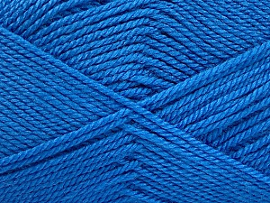 Fiber Content 100% Acrylic, Brand ICE, Blue, Yarn Thickness 2 Fine  Sport, Baby, fnt2-52359