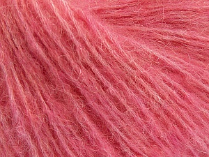 Fiber Content 34% Acrylic, 26% Polyamide, 25% Alpaca, 15% Superwash Merino Wool, Pink, Brand ICE, Yarn Thickness 3 Light  DK, Light, Worsted, fnt2-52385