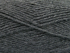 Fiber Content 100% Acrylic, Brand ICE, Dark Grey, Yarn Thickness 3 Light  DK, Light, Worsted, fnt2-52549