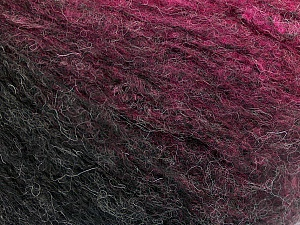 Fiber Content 47% Acrylic, 24% Wool, 19% Mohair, 10% Polyester, Pink Shades, Brand ICE, Black, Yarn Thickness 4 Medium  Worsted, Afghan, Aran, fnt2-52593