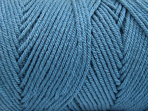 Items made with this yarn are machine washable & dryable. Fiber Content 100% Dralon Acrylic, Jeans Blue, Brand ICE, Yarn Thickness 4 Medium  Worsted, Afghan, Aran, fnt2-52773