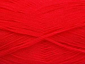 Very thin yarn. It is spinned as two threads. So you will knit as two threads. Yardage information is for only one strand. Fiber Content 100% Acrylic, Brand ICE, Candy Pink, Yarn Thickness 1 SuperFine  Sock, Fingering, Baby, fnt2-52911