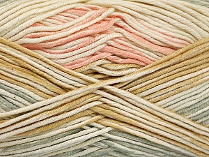 Fiber Content 50% Cotton, 50% Acrylic, Light Salmon, Light Grey, Light Brown, Brand ICE, Cream, Yarn Thickness 2 Fine  Sport, Baby, fnt2-52916
