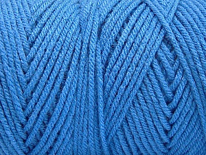 Items made with this yarn are machine washable & dryable. Fiber Content 100% Dralon Acrylic, Brand ICE, Blue, Yarn Thickness 4 Medium  Worsted, Afghan, Aran, fnt2-52950