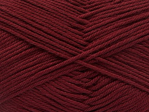 Baby cotton is a 100% premium giza cotton yarn exclusively made as a baby yarn. It is anti-bacterial and machine washable! Fiber Content 100% Giza Cotton, Brand ICE, Burgundy, Yarn Thickness 3 Light  DK, Light, Worsted, fnt2-53067