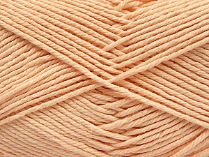 Baby cotton is a 100% premium giza cotton yarn exclusively made as a baby yarn. It is anti-bacterial and machine washable! Fiber Content 100% Giza Cotton, Light Salmon, Brand ICE, Yarn Thickness 3 Light  DK, Light, Worsted, fnt2-53077