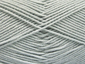 Fiber Content 50% Bamboo, 50% Acrylic, Light Grey, Brand Ice Yarns, Yarn Thickness 2 Fine  Sport, Baby, fnt2-53088